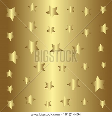Gold stars pattern, golden style background  illustration, foil design