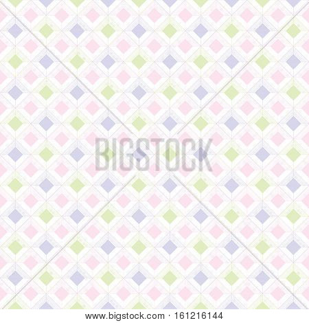 Baby seamless pattern, kids pastel geometric retro ornament textures, abstract background, geometry repeat wallpaper