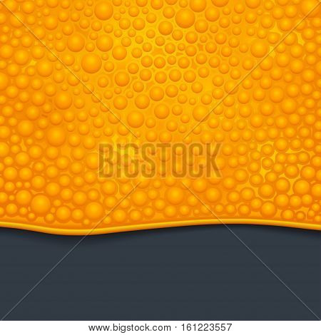 illustration of orange color bubble slime on dark background