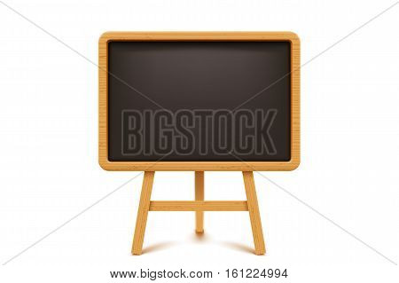 illustration of wooden black color flip chart on white background