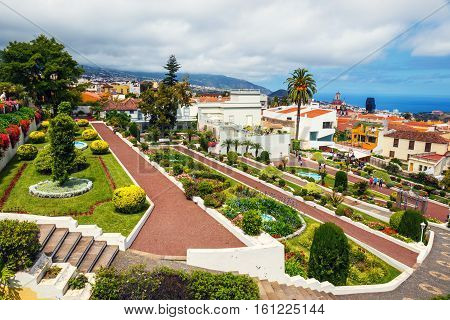 La Orotava, Tenerife, Spain - June 11, 2015: Botanical Garden In La Orotava Town, Tenerife, Canary I
