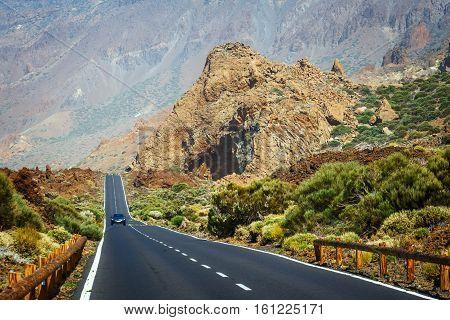 Highland highway in Tenerife Canary Island Spain