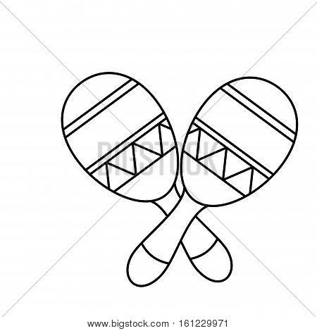 mexican maraca instrument icon vector illustration design