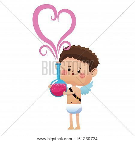 cute cupid valentine day elixir love vector illustration eps 10