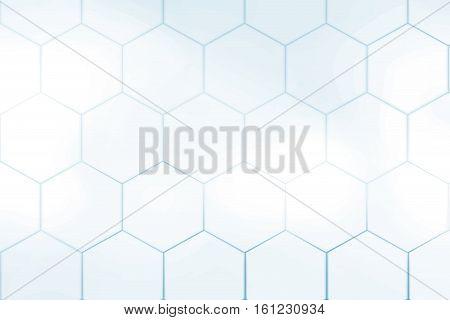 Blue white hexagonal abstract background mosaic design