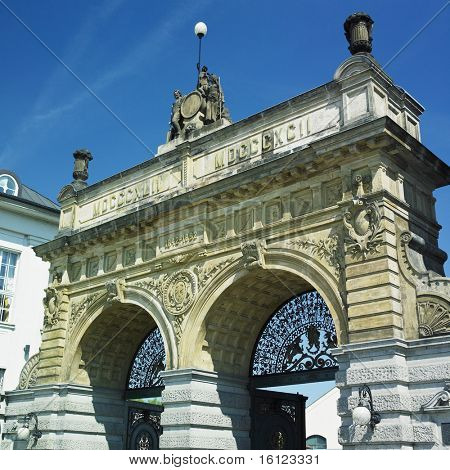 brewery gate, Plzen (Pilsen), Czech Republic