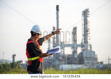 The man engineer at power plant Thailand