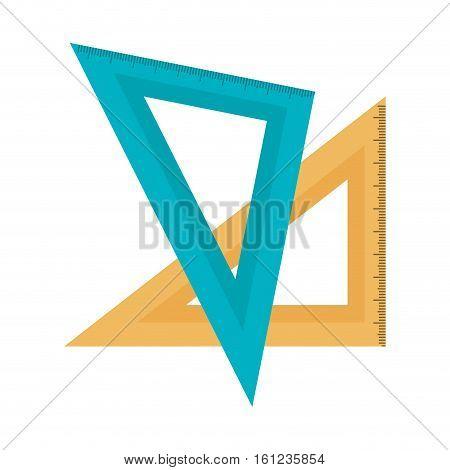 rule school supply icon vector illustration design