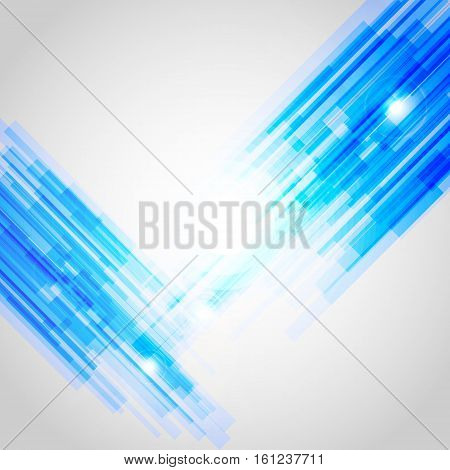 Blue abstract straight lines background, stock vector