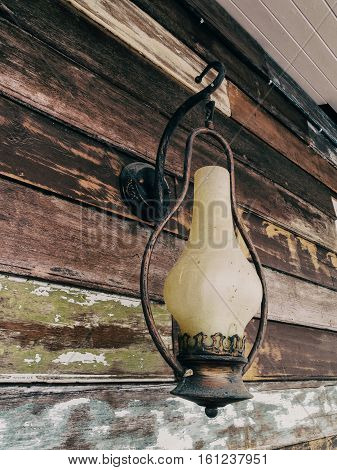 The Old iron lamp Classic and Vintage style