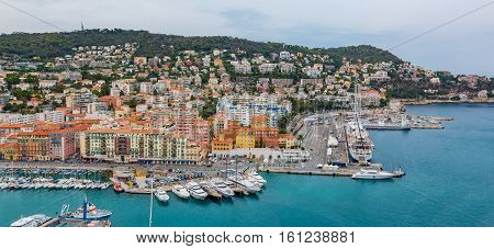 Nice City Coastline On The Mediterranean Sea