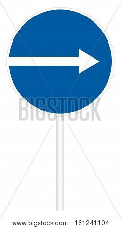 Prescriptive Traffic Sign - Direct Right