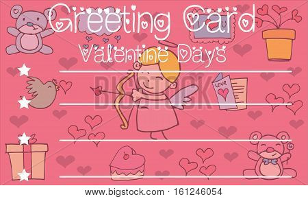 Greeting card valentine background vector collection stock