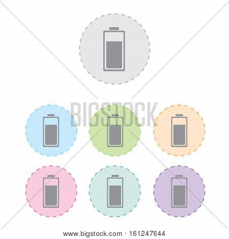 battery charge sing icon set. vector illustration