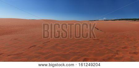 Red Sand Dunes In Mui Ne Villiage, Vietnam