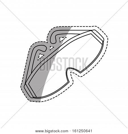 Safety industrial glasses icon vector illustration graphic design