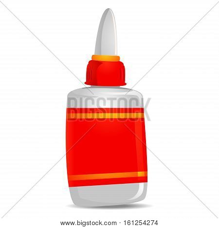 Vector Illustration of Glue with Blank Label