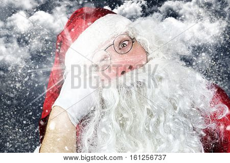 Santa Claus In The Christmas Night Punched In The Face