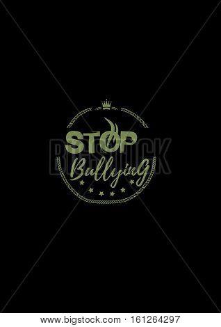 stop bullying icon grunge vintage retro background