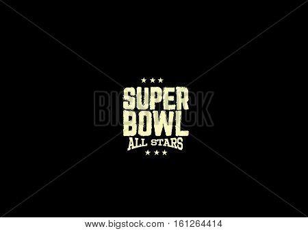 superbowl all stars grunge vintage retro background