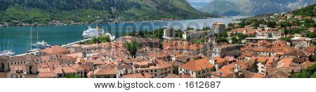Panorama Of Kotor Bay And Town