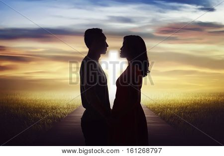 Young Couple Looking Each Other