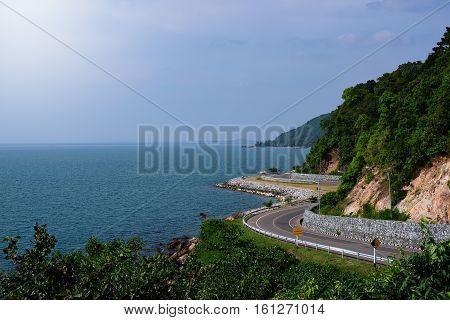 Viewpoint Noen Phaya Scence Area and Chalerm Burapa Chollathit roadChanthaburi thailand