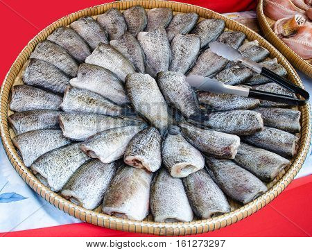 Dried fish (trichogaster pectoralis) delicious siam food