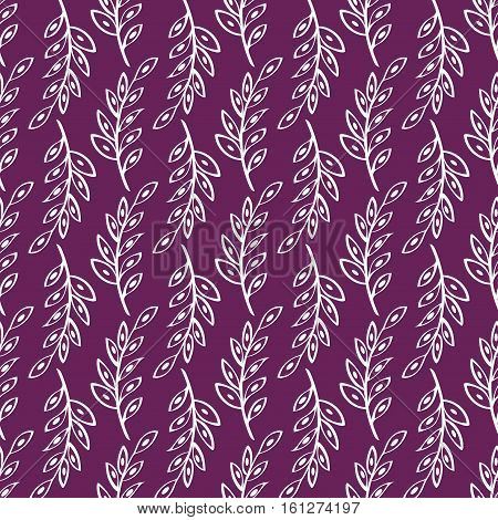 Vector sprig Seamless pattern background. Abstract illustration hand drawn.