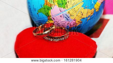 honeymoon trip, honeymoon, wedding rings, love and happy