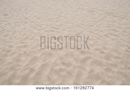 white warm sand in deserted summer beach