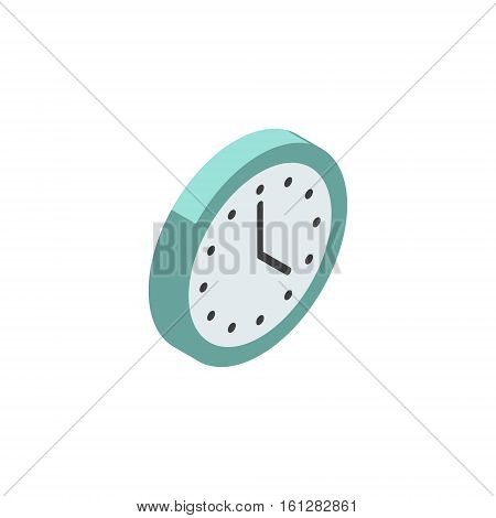 Clock isometric icon or logo. 3d vector illustration of clock. Isometric vector furniture. Element of home interior for web design, mobile app, infographic. Vector isometric icon of clock.