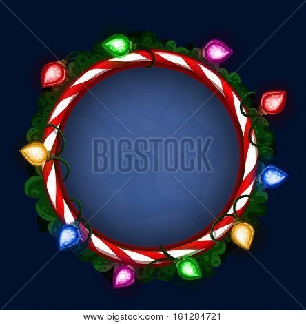 Bright Christmas frame. Vector illustration