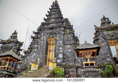 Pura Besakih the black temple in Bali