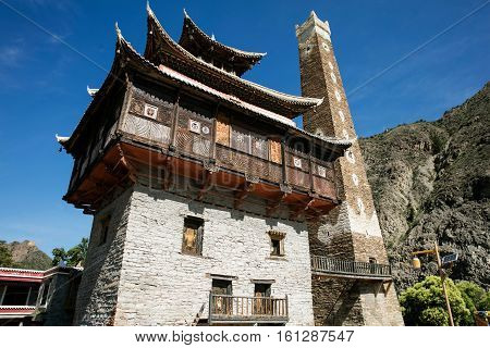 Sichuan province Chinese Tibetan Village of aba,In July 2016, forward to the visit.