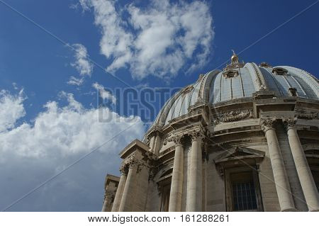 The cupola of Peter's dome in Vatican city