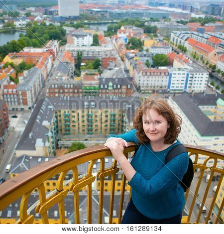 Girl On Top Of Vor Frelsers Kirke