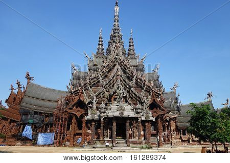 Sanctuary Of Truth Located In Pattaya