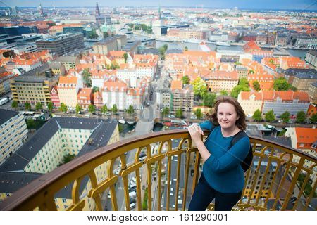 Girl Enjoying View Of Copenhagen