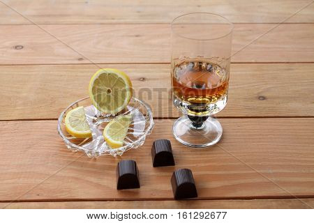 lemon chocolate whiskey Glass of scotch whiskey