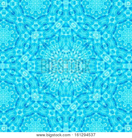Abstract blue background with water ripples concentric pattern