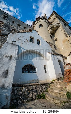 Bran Romania - July 5 2016: Bran Castle known as Dracula's Castle near Bran town