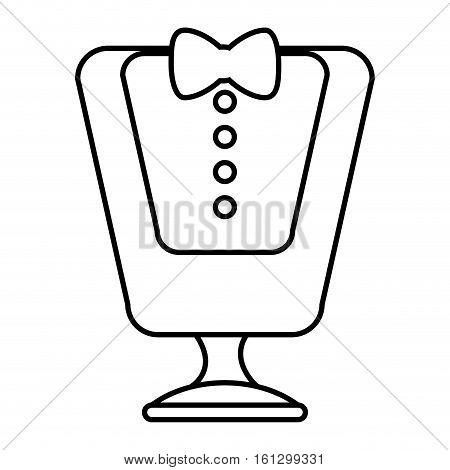 Manikin with waiter costume vector illustration design
