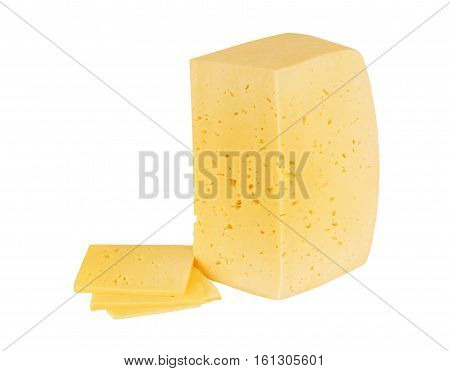 piece of cheese isolated part, background, single, hole, chees
