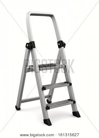 staircase on white background. Isolated 3D image