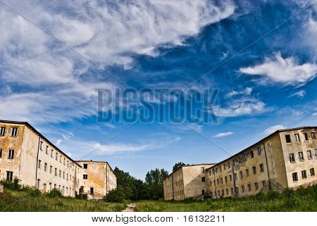 empty military buildings