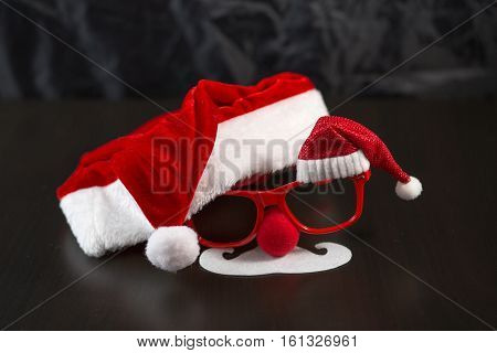 New Year's Mask, Christmas, Father Frost, Santa Claus, Carnival Mask, Glasses, Moustaches, Beard, Ca