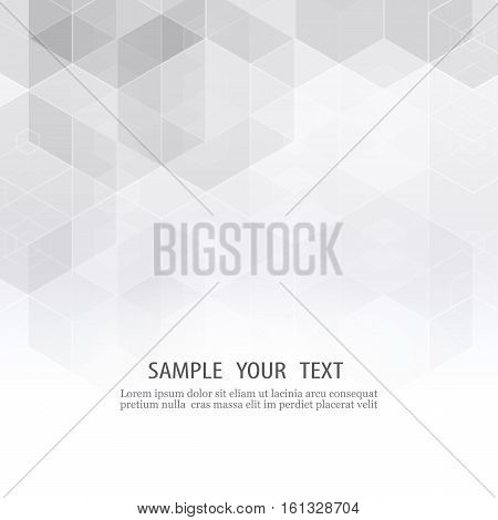 Vector Abstract science Background Hexagon geometric design Gray hexagon geometric design
