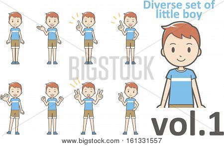 Diverse set of little boy EPS10 vector format vol.1