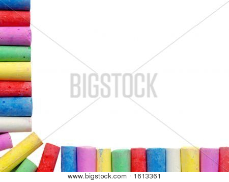 Border Of Coloured Chalks